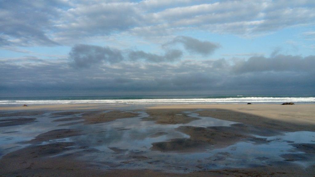 Puddles on Porthmeor Beach St Ives