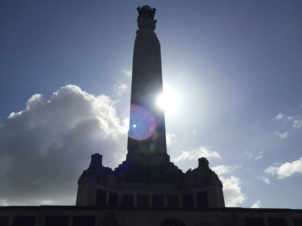 A war memorial on Plymouth Hoe