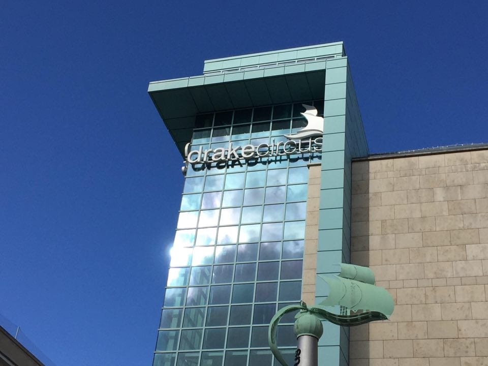 Drake circus shopping center from the outside