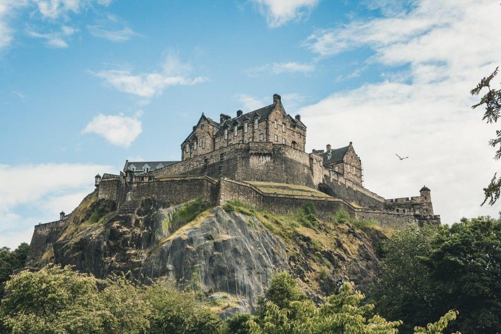 Castle, Edinburgh, Clear skies, Scotland