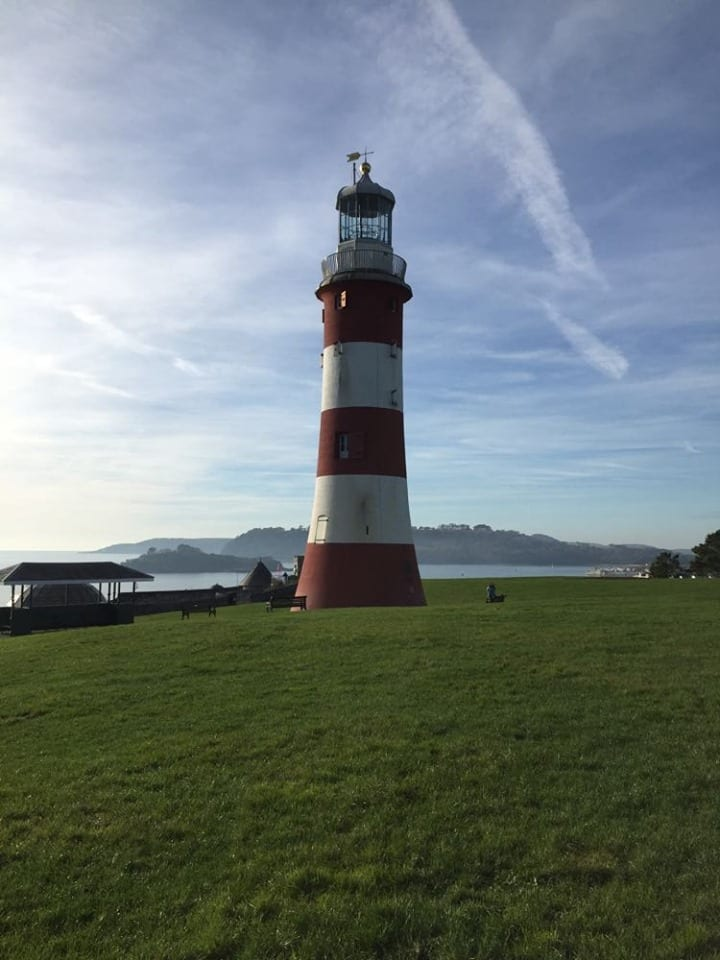 Plymouth Hoe, Smeatons tower, Plymouth, Devon, England, maritime, Plymouth travel guide