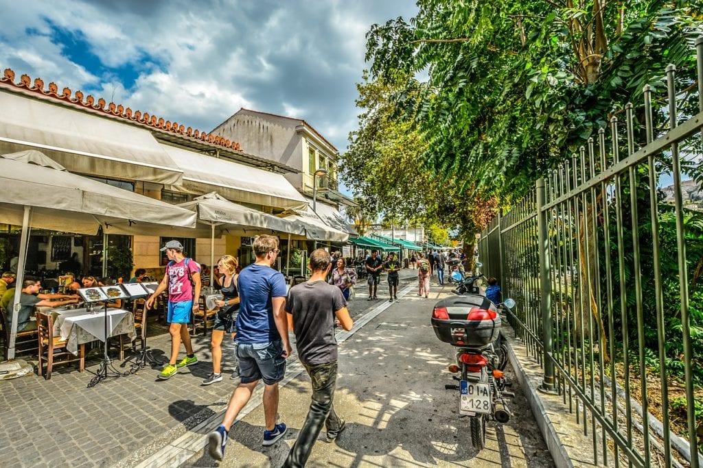 athens, plaka, monastraki, City, District, stalls, sunny, backpacking Athens