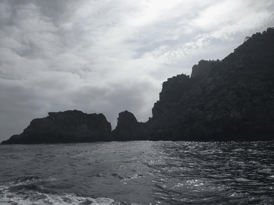 Ibiza Coastline, Sea, Ricks, Cliff, Balearic Islands, Sant Eulalia,Water Taxi