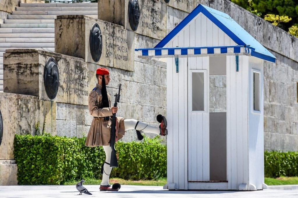 greek soldier, parliament, greece
