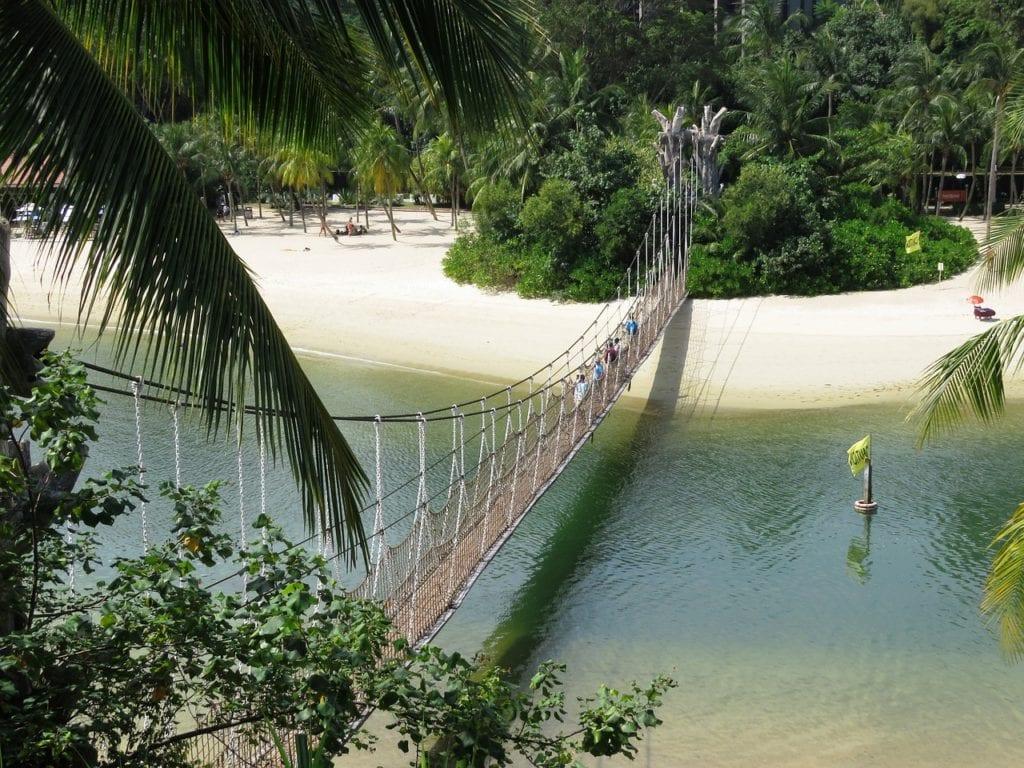 sentosa beach, singapore, rope bridge, Palawan beach, Things to do in Singapore, Travels With Eden, Things to do in Singapore| The Ultimate Guide