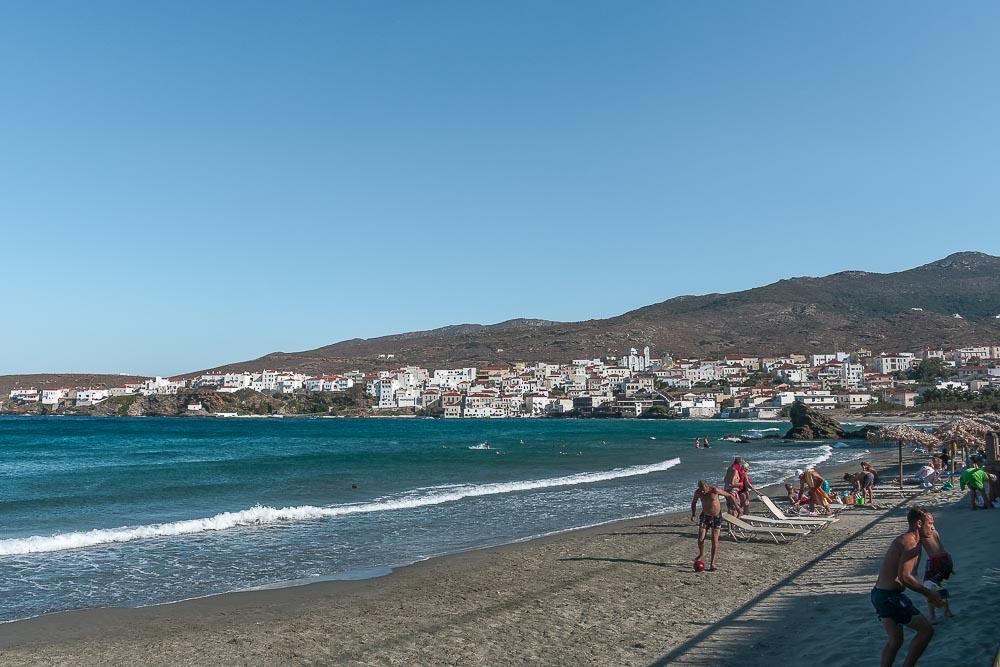 Travels with Ecden, best beaches in Greece for fammilies, Nimporio Beach, Andros island, Greek islands