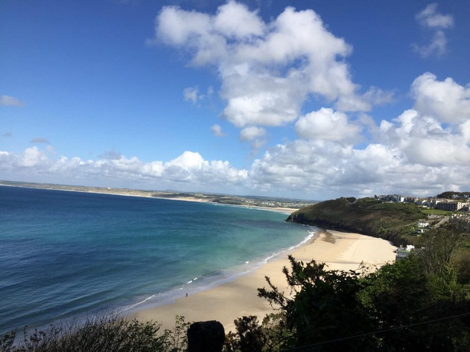 Glimpse/view of Carbis Bay Beach