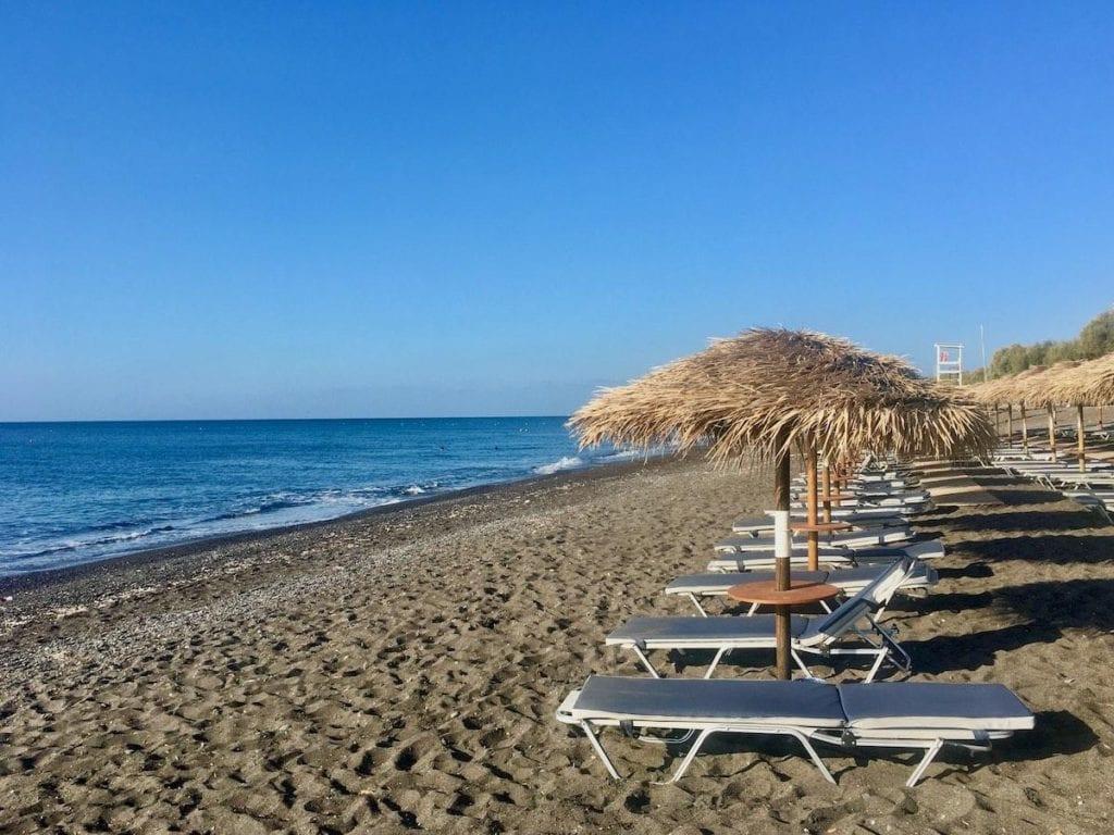 Santorini Beach, Perivolos, best beaches in Greece for families