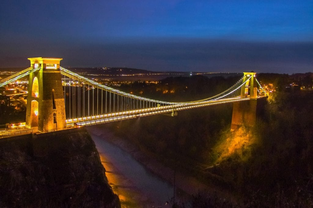 bristol, bridge, building, day trips from Exeter