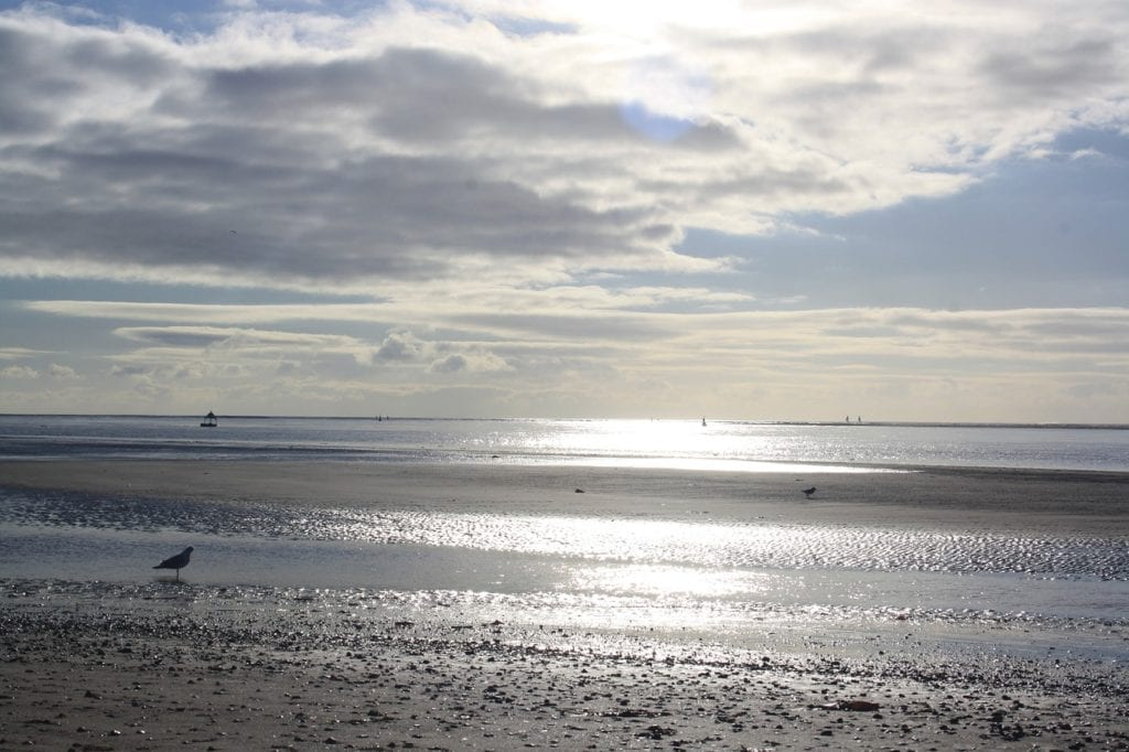 sea, clouds, beach, exmouth beach, day trips from Exeter