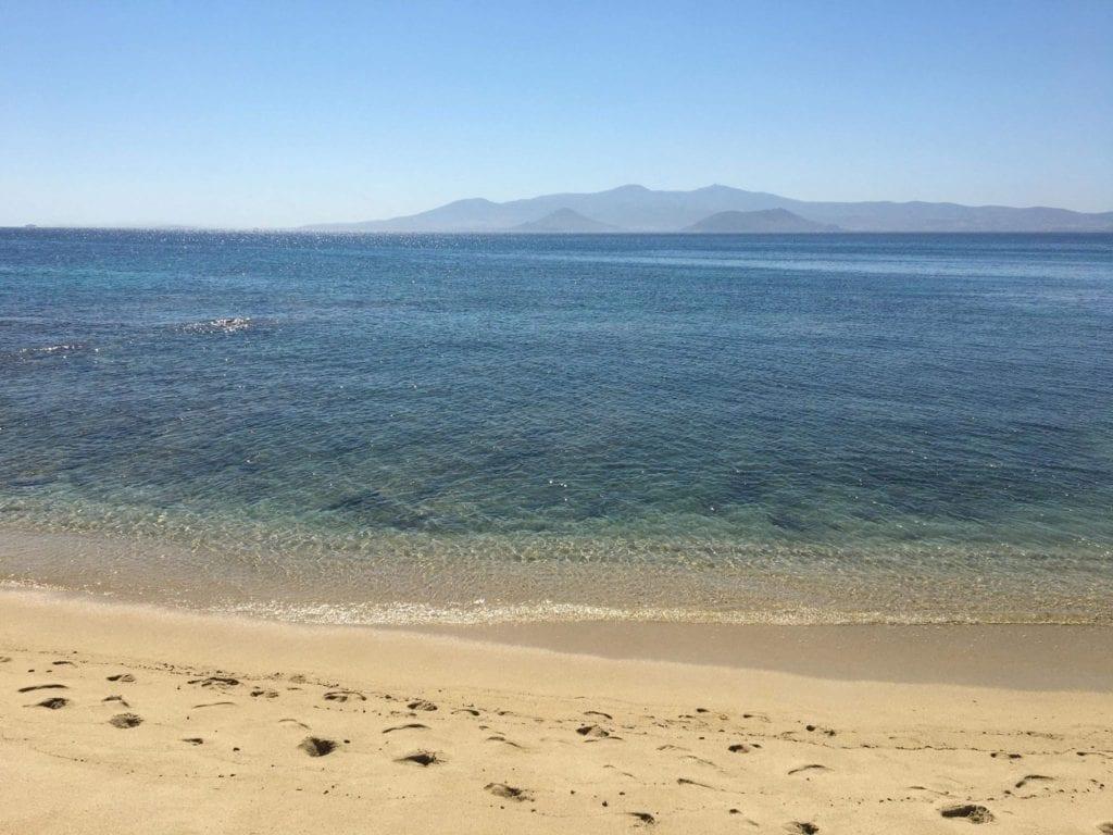 Agios prokopios beach Naxos, Naxos island, Greece.