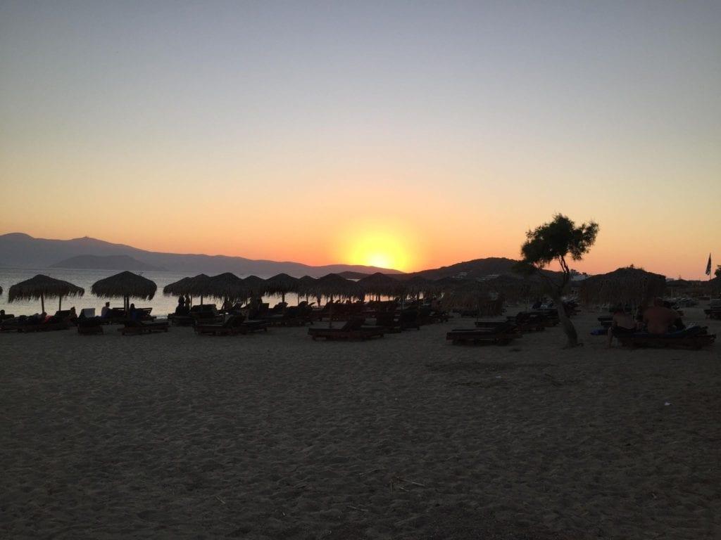 Agios prokopios greece sunset