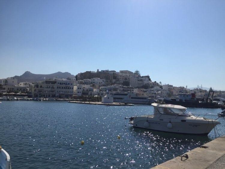 Naxos port, chora