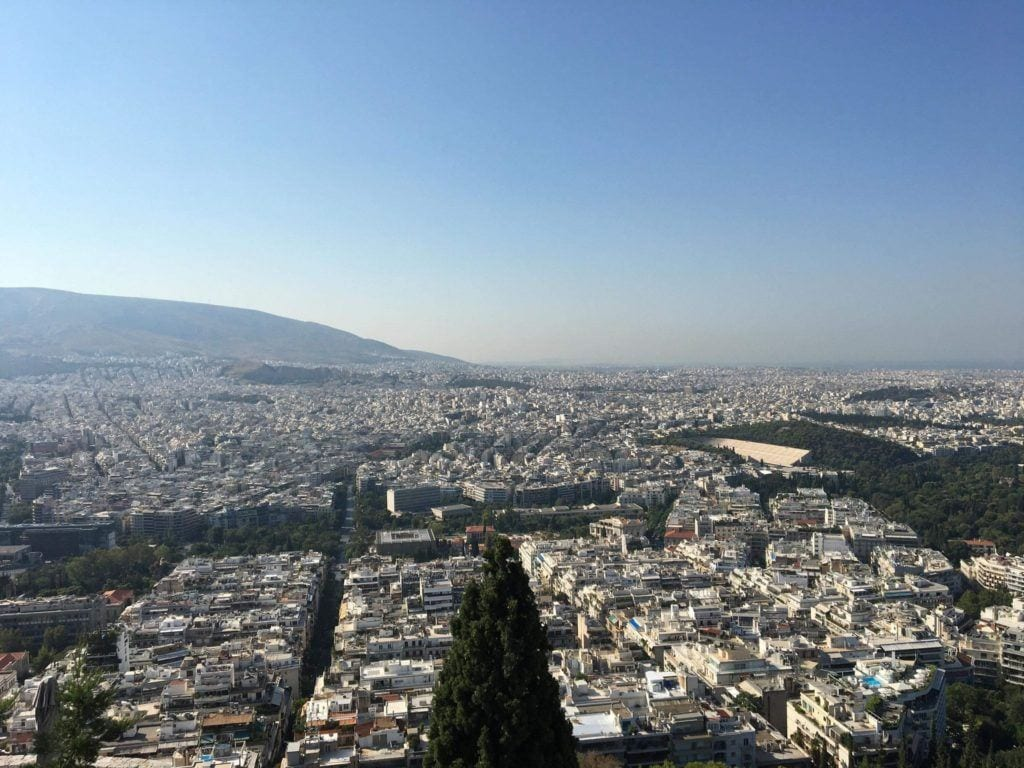 Lycabettus Hill, Athens, Athens viewpoint, Greece. Athens with kids