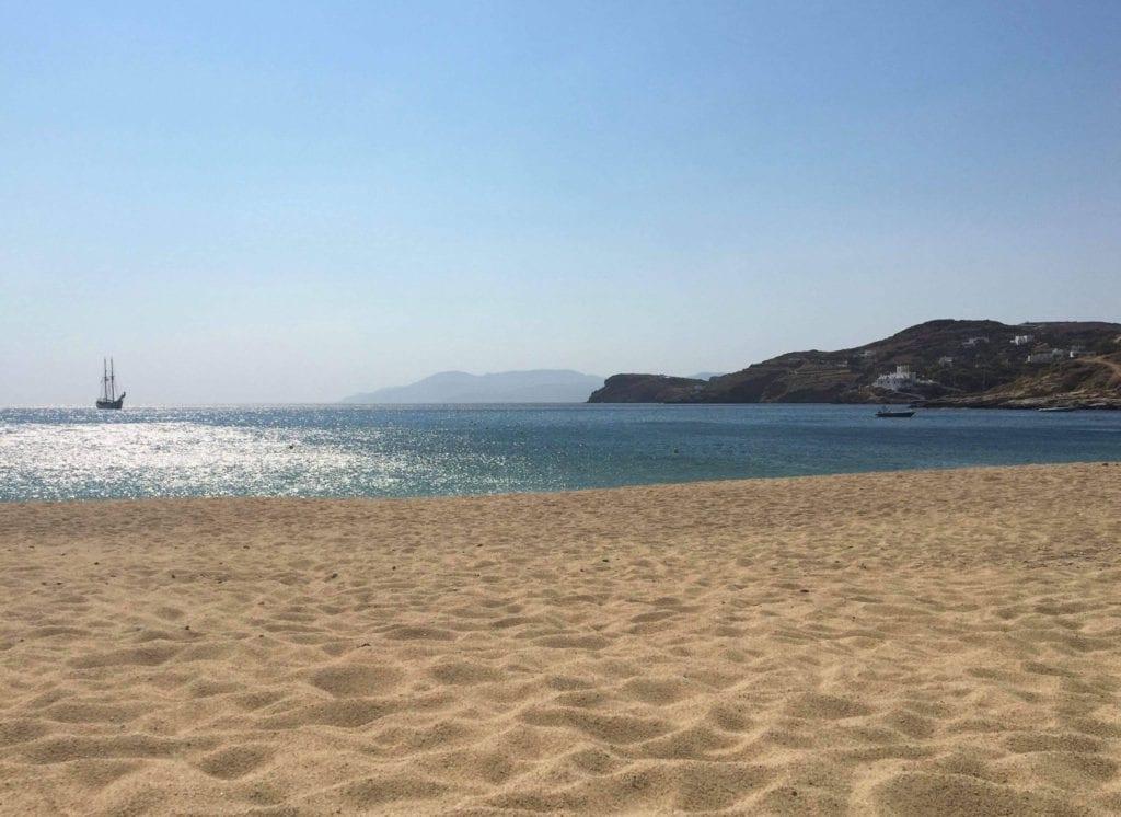 A view out to sea from Myopotos beach, Ios, Greece