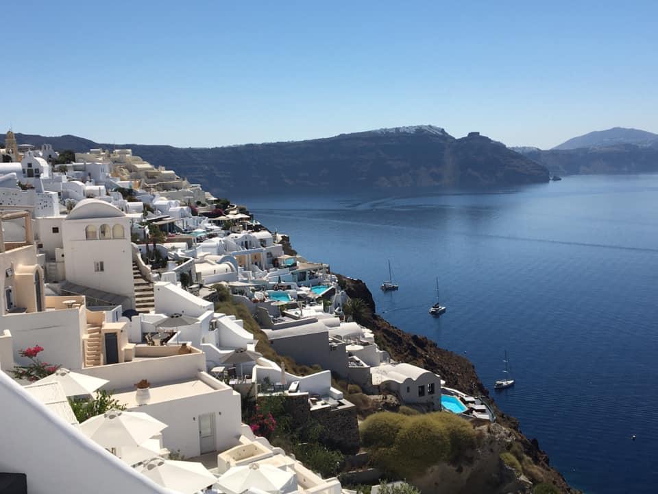 Santorini. best greek islands for families