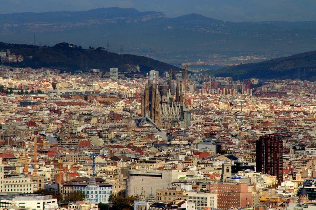 barcelona, panorama, top