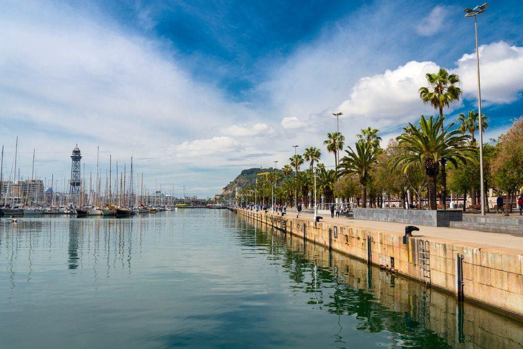 barcelona, spain, city, waterfront