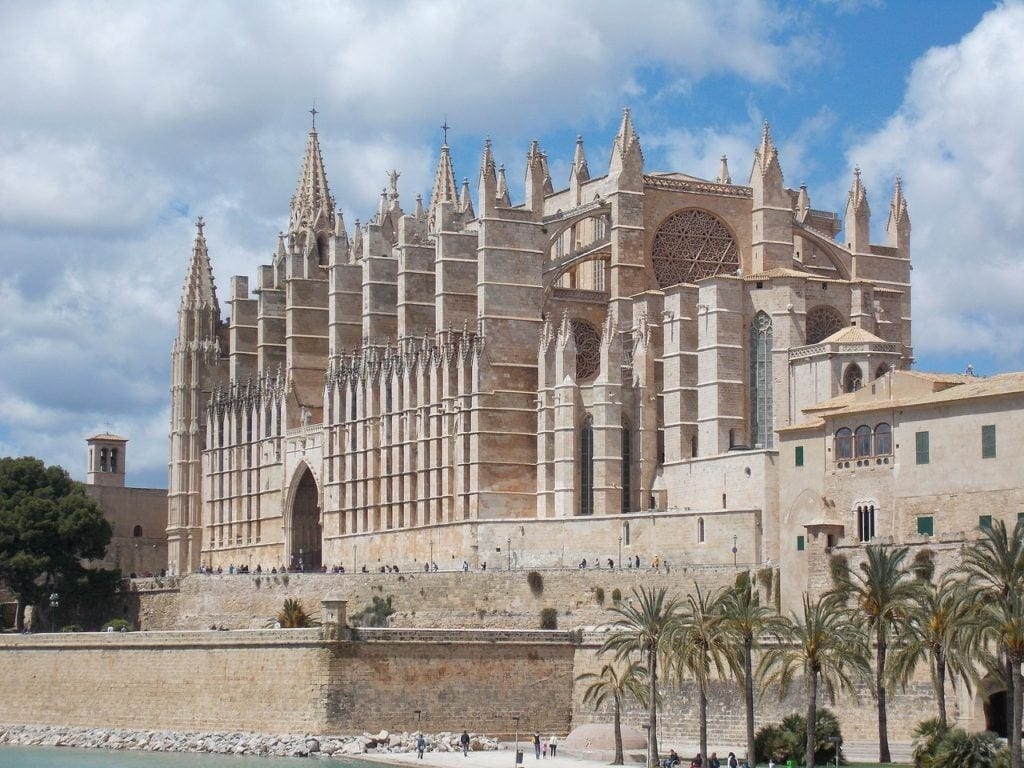cathedral of saint mary, palma, mallorca,  spanish coastline, spain with kids, best coastal cities in spain.