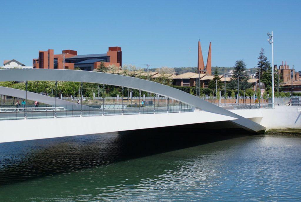 modern bridge, san sebastian, panorama