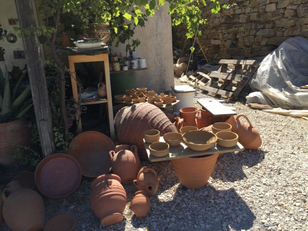 manolas pottery workshop, dalamas greece, naxos