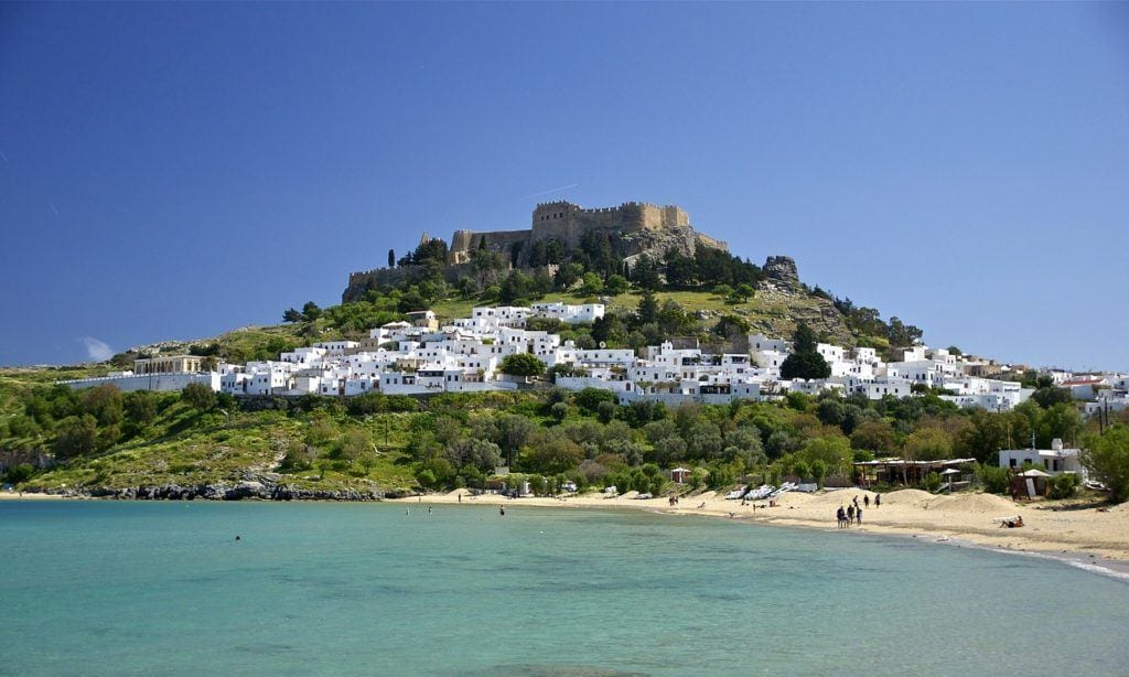 Rhodes Greece Castle Landmark Hill  - 12019 / Pixabay, best greek islands for families
