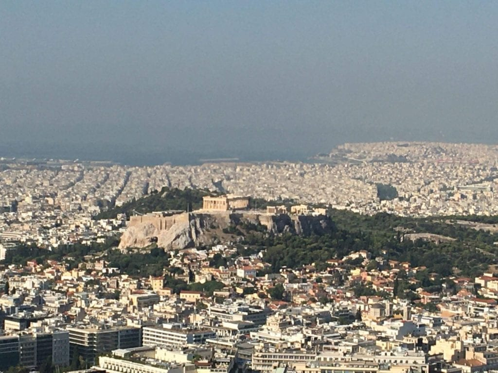 View from Mount Lycabettus, Athens itinerary Athens with kids, 10 days in Greece