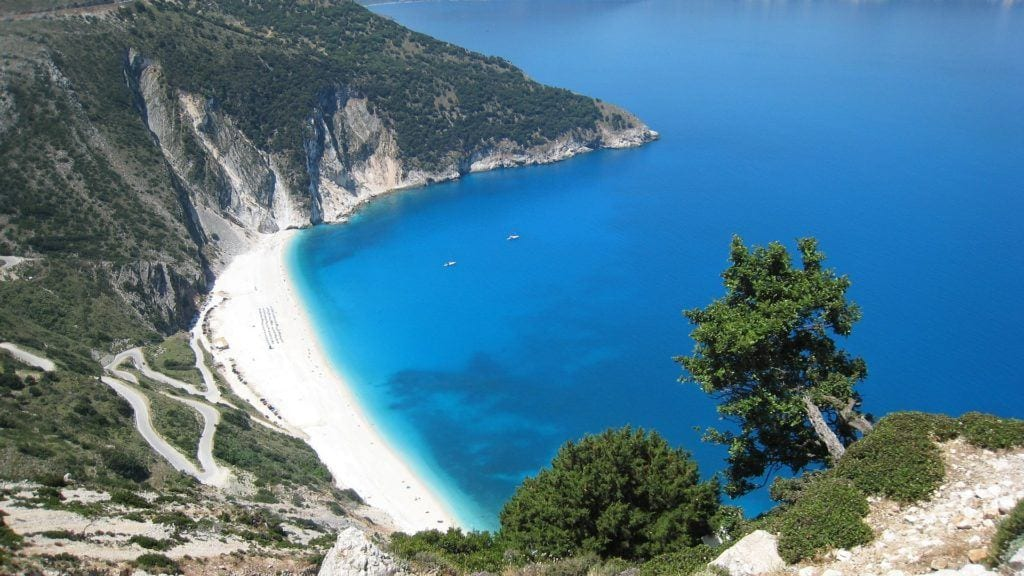 Myrtos Beach, things to do in kefalonia, kefalonia with kids