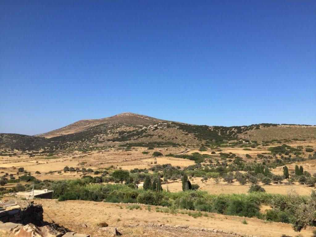 Inland Naxos, Greece countryside