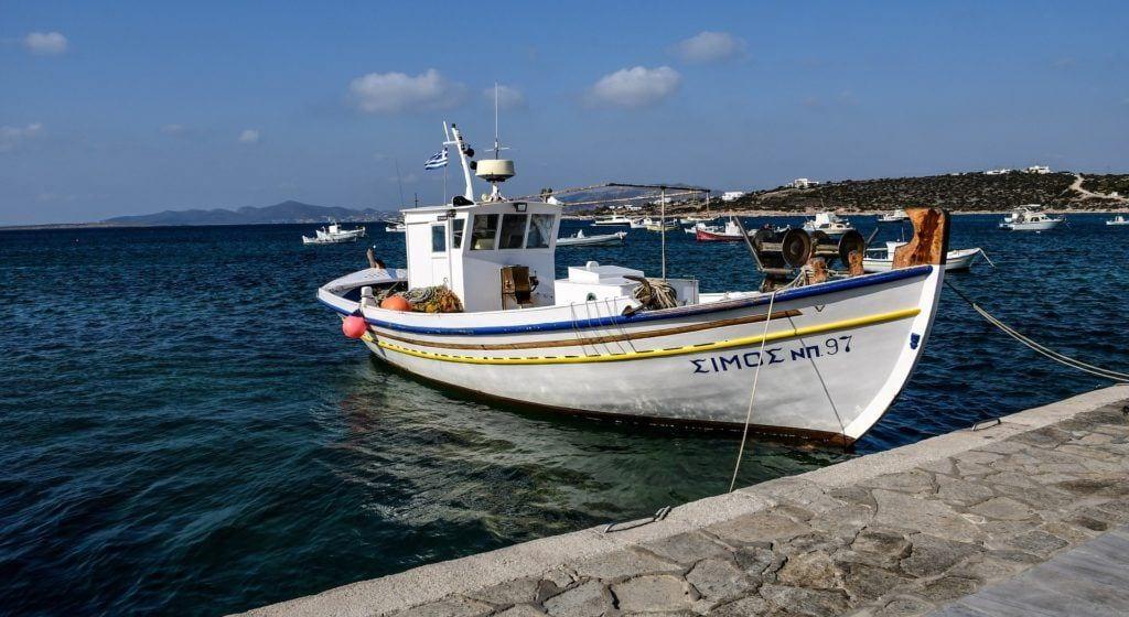 Paros, fishing boar, cyclades, greece