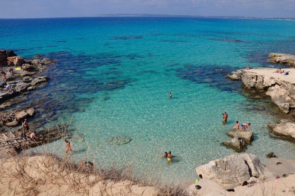 calo des mort, formentera, laguna, best spanish islands