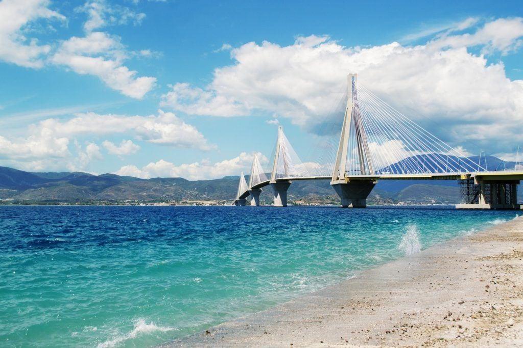 patra bridge, patras, journey from athens to kefalonia