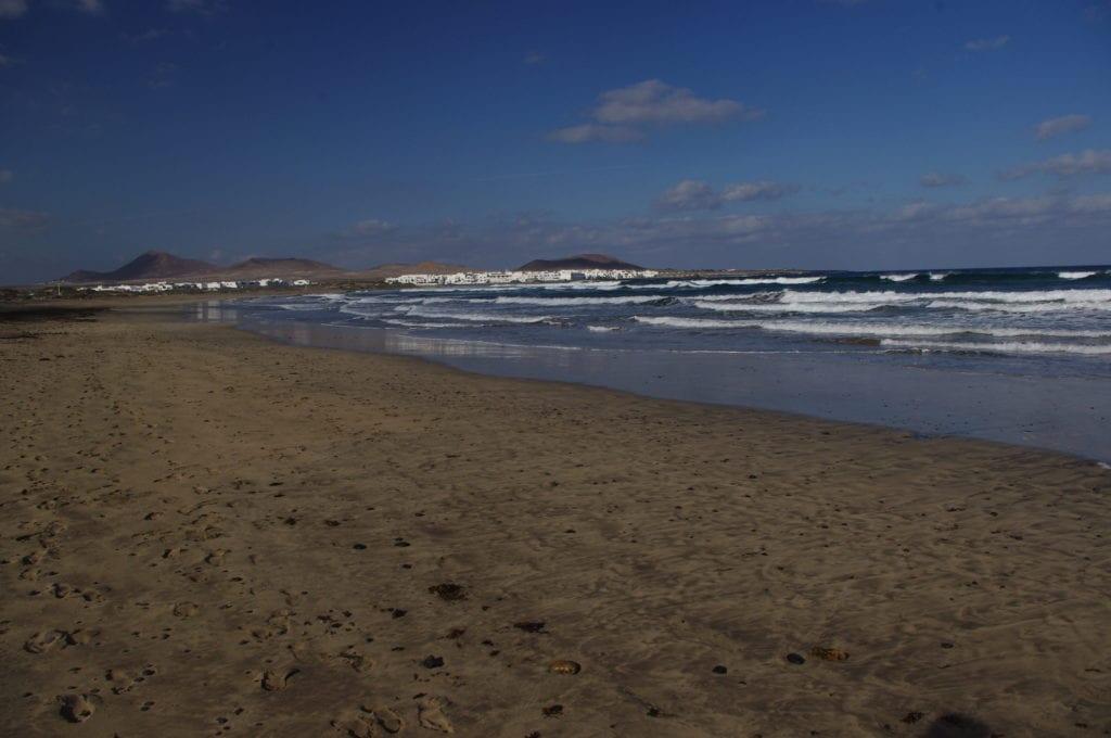 Canary islands with kids, Famara beach Lanzarote