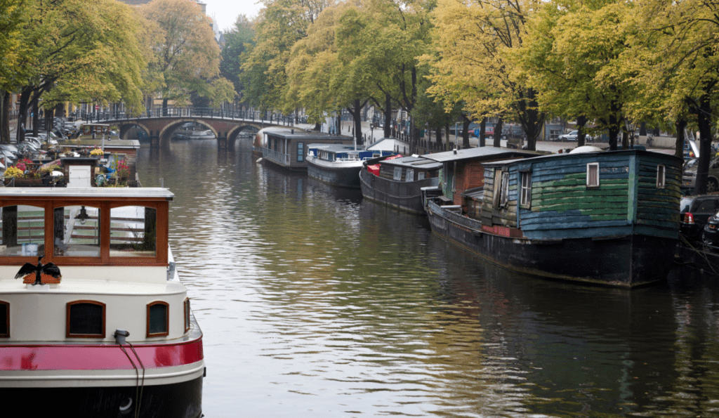 Houseboat, canal, Amsterdam