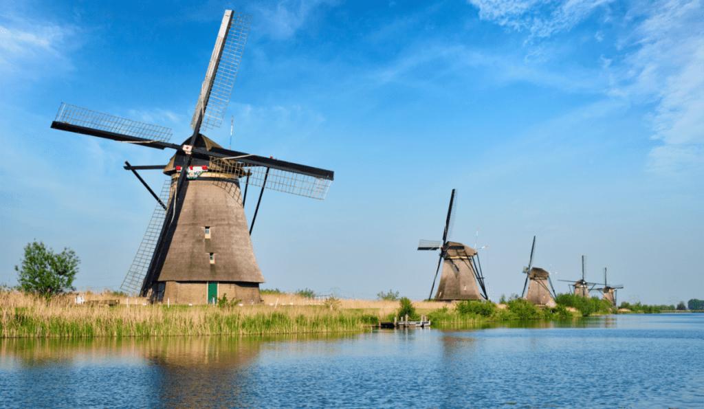 Dutch windmills, UNESCO world heritage site, netherlands with kids