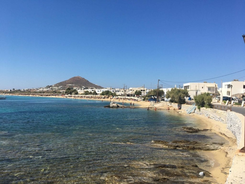 Agia Anna Beach, Naxos, 10 days in Greece