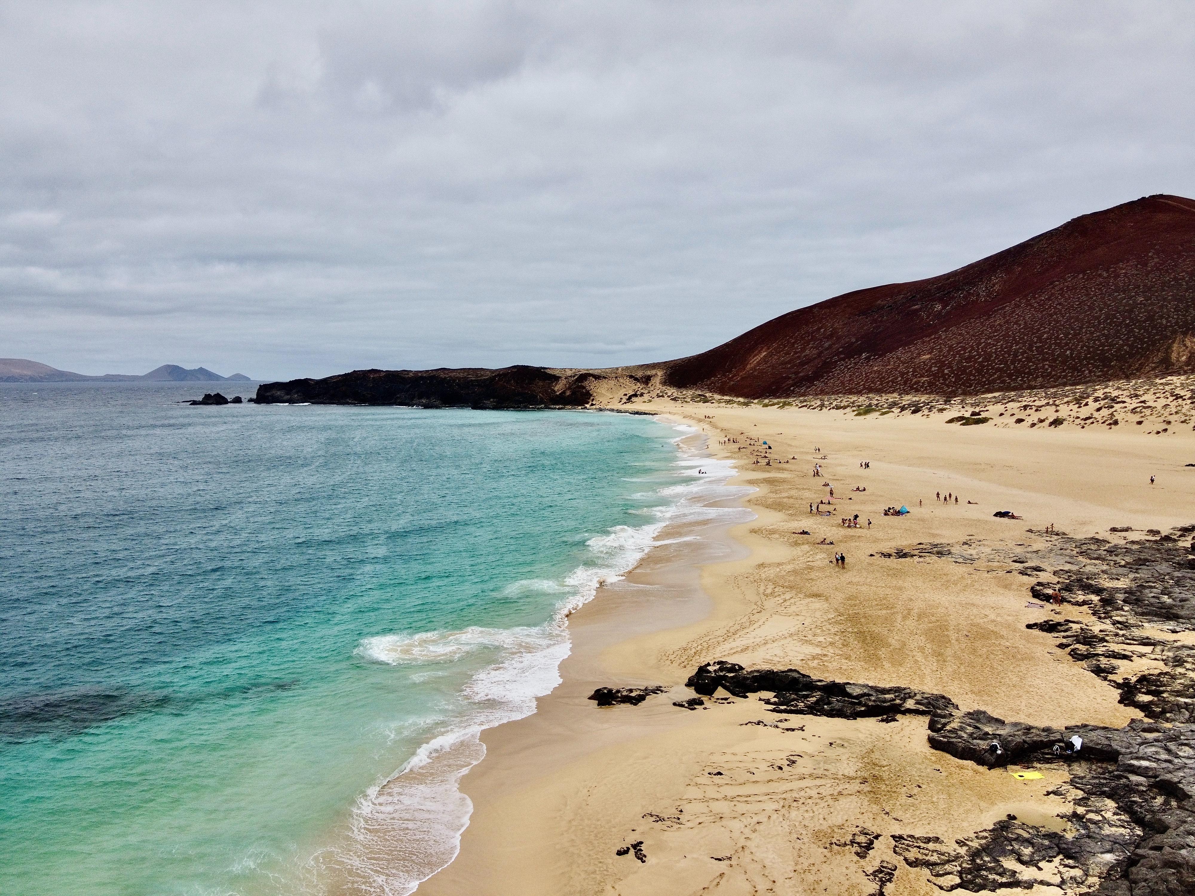 La Graciosa, Las Conchas beach, best beaches in canary islands