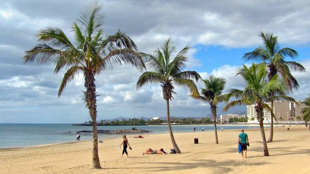 lanzarote, beach, sand