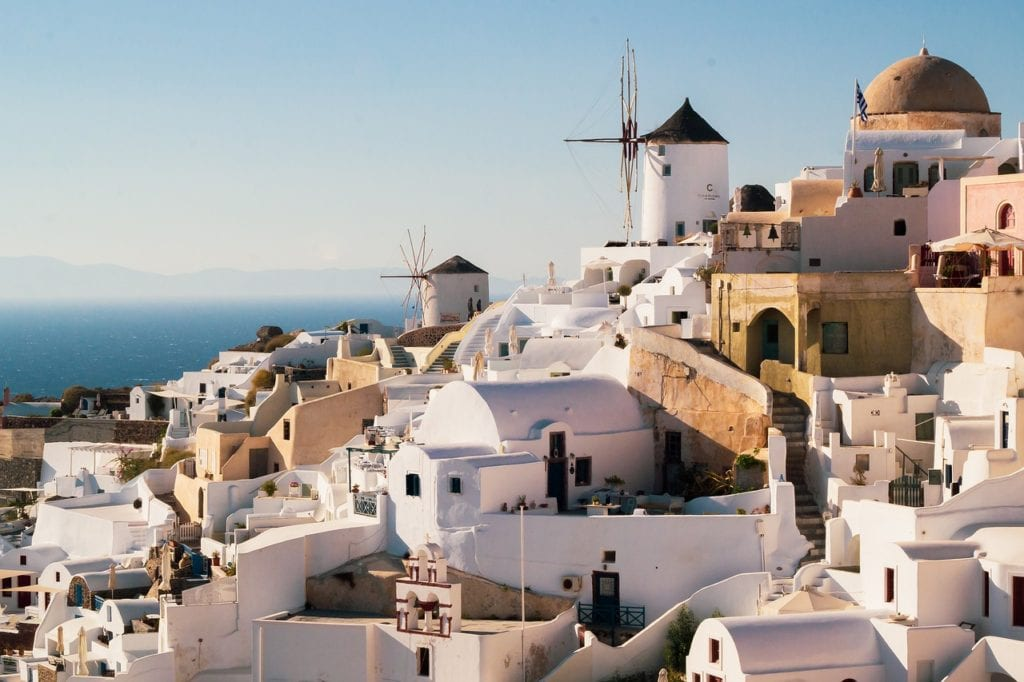 santorini, greece, buildings