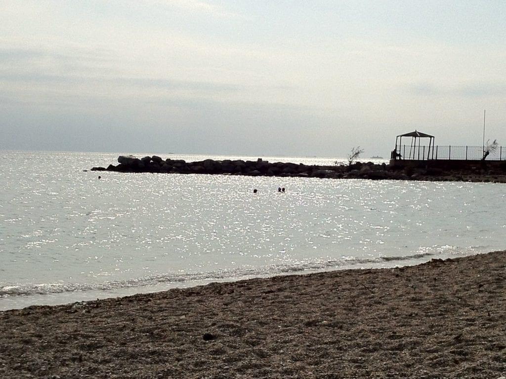 Alimos beach athens, empty beach, athens beaches