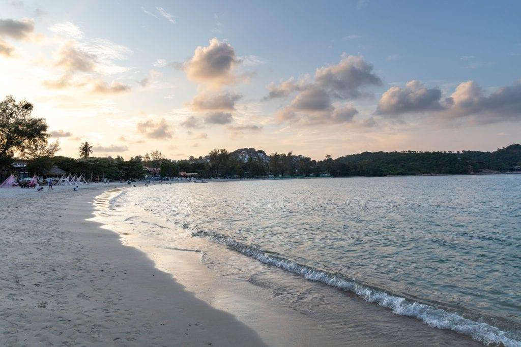 Choeng mon beach sunset, koh samui