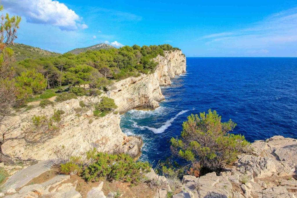 Dugi Otok cliff, best islands in Croatia