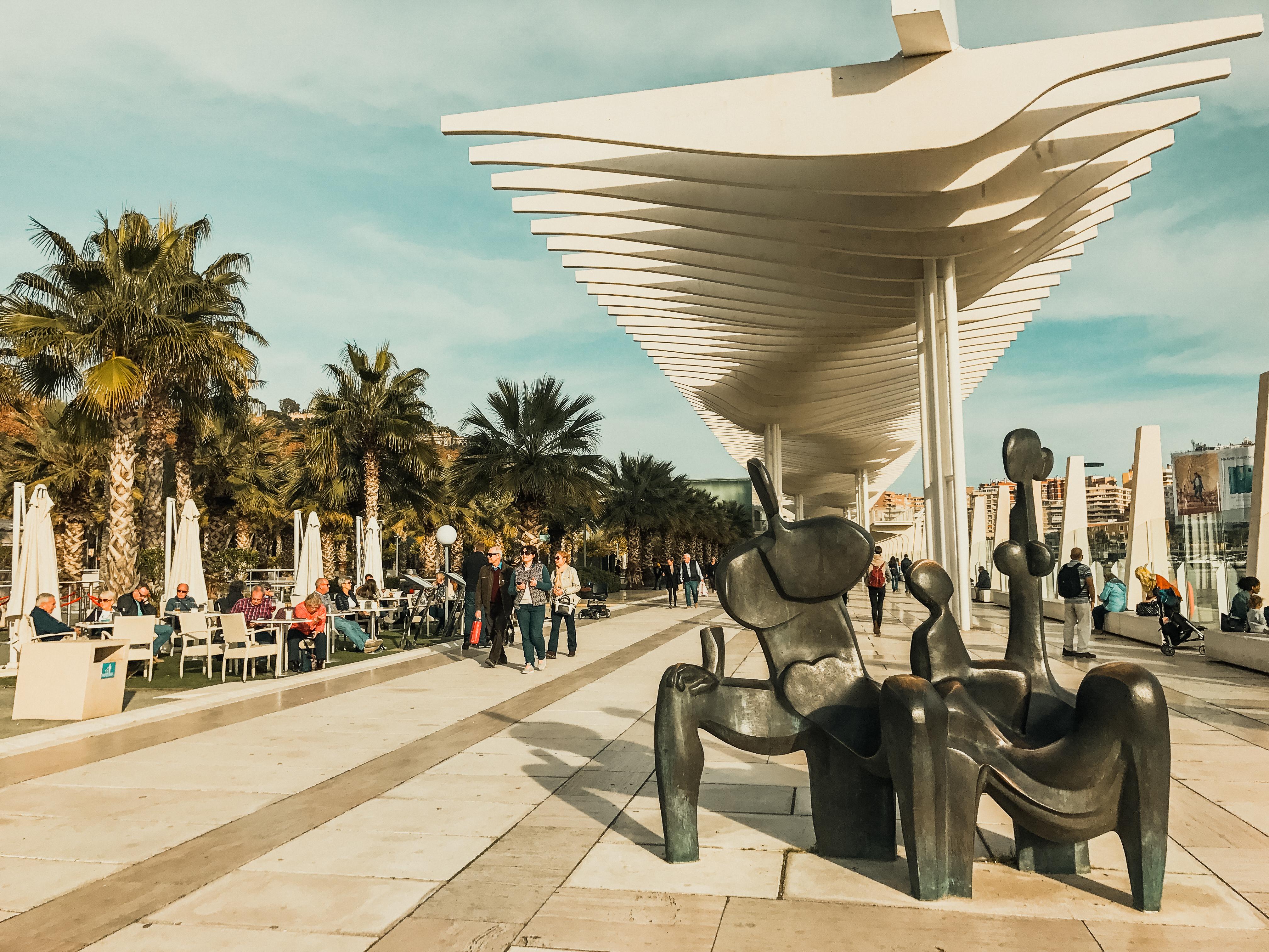 Malaga, promenade, Spain, Malaga city break