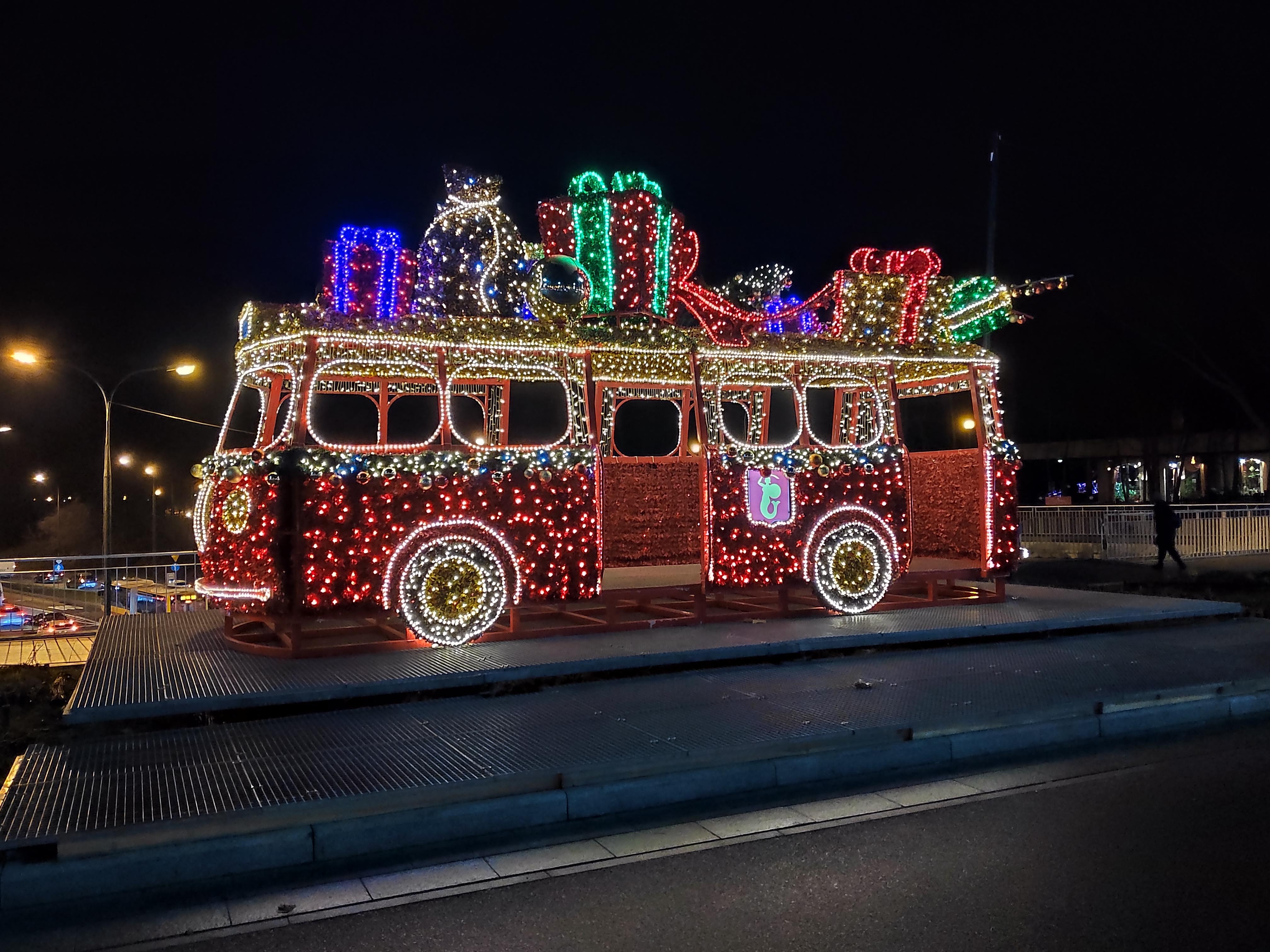 christmas bus, poland