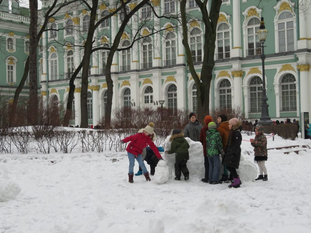 St Petersbourg with kids, Russia with kids, St Petersbourg in February
