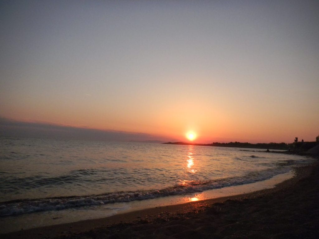 Voula beach, sunset athens beach