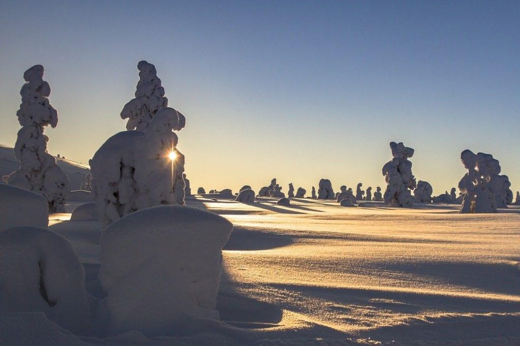 lapland, winter, snow