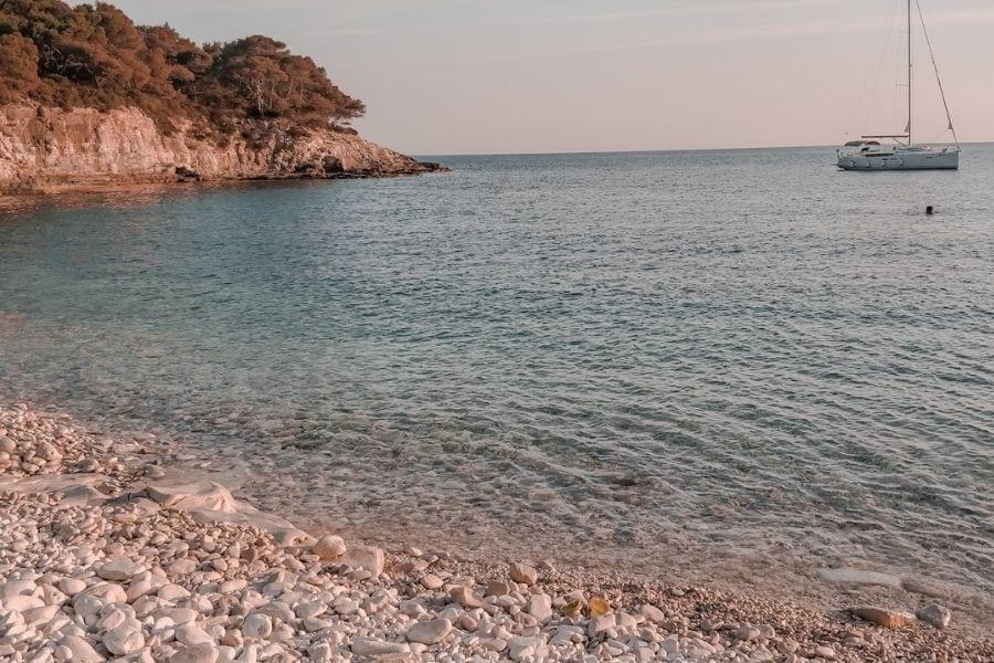 Srebena beach, Vis, adriatic sea
