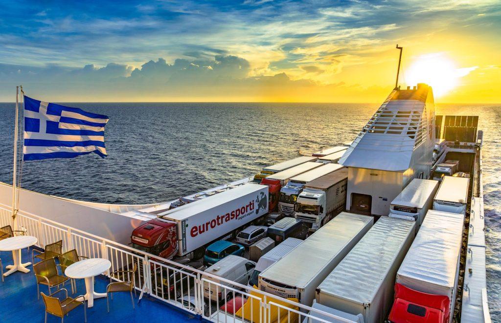 ferry, ship, mediterranean
