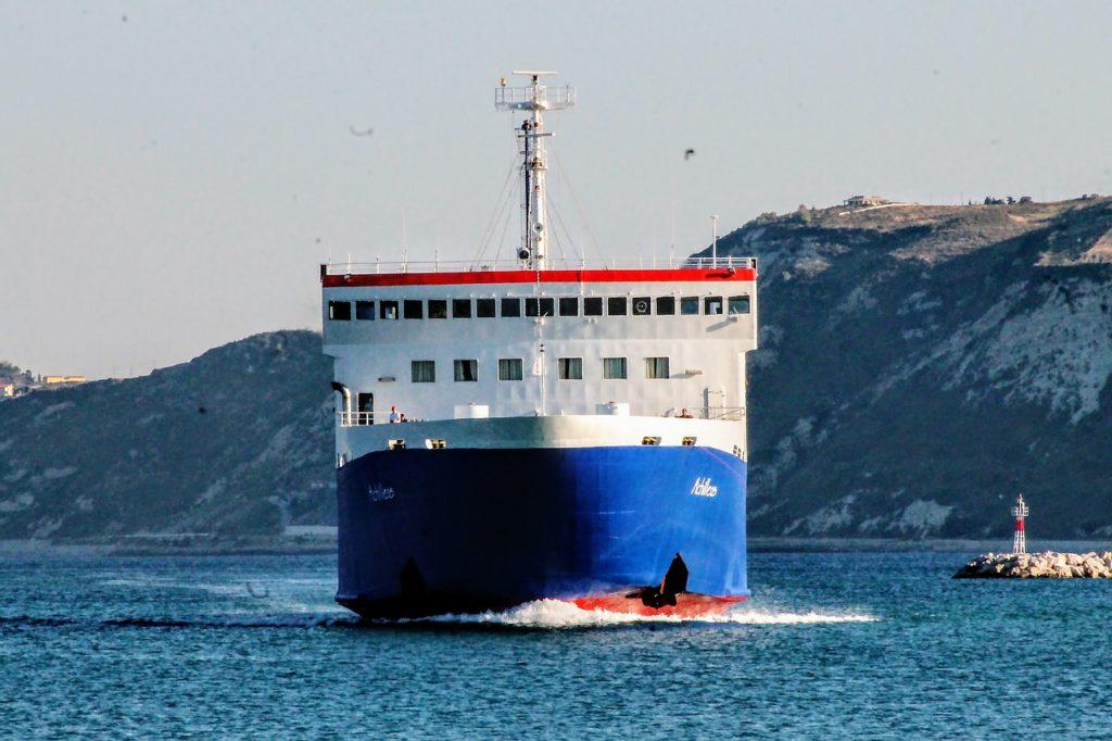 ferry, small ship, sea